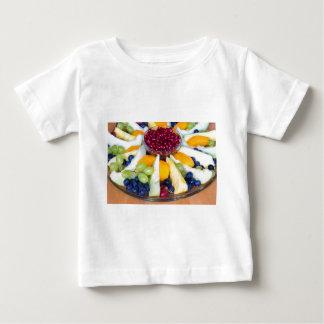 Camiseta Para Bebê Cheio de vidro da escala de várias frutas frescas