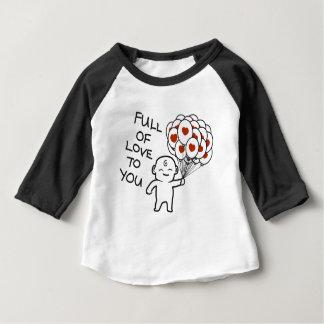 Camiseta Para Bebê Cheio do amor a você
