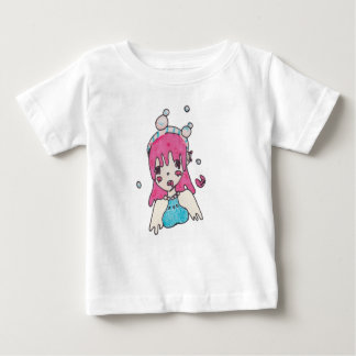 Camiseta Para Bebê chibi disolving da bolha da água