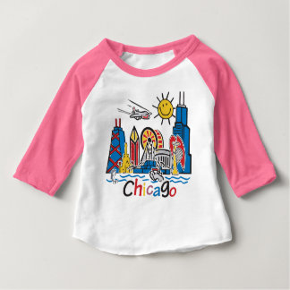Camiseta Para Bebê Chicago caçoa a obscuridade