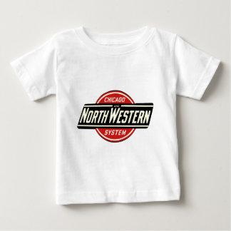 Camiseta Para Bebê Chicago & logotipo do noroeste 1 da estrada de