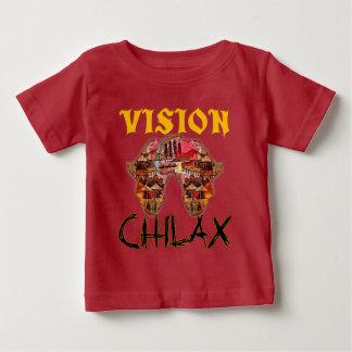 Camiseta Para Bebê Chilax relaxa a visão maravilhosa africana seu