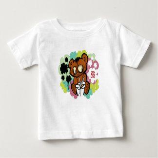 Camiseta Para Bebê Chinês bonito dos desenhos animados do bebê do