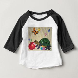Camiseta Para Bebê Chique do presente do bebê do design da tartaruga