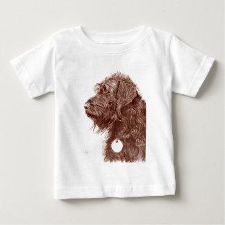 Camiseta Para Bebê Chocolate Labradoodle