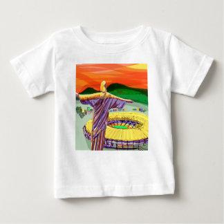 Camiseta Para Bebê Christ The Redemer and Maracanã Stadium - Rio - Br