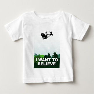 Camiseta Para Bebê christmas, files J want to believe alien ufo