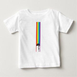 Camiseta Para Bebê Chuva de tinta