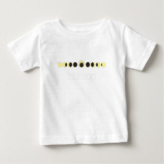 Camiseta Para Bebê Ciclo total do eclipse solar