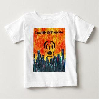 Camiseta Para Bebê cidade do fogo de Localmusicplay.com