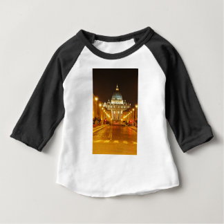 Camiseta Para Bebê Cidade do Vaticano, Roma, Italia na noite