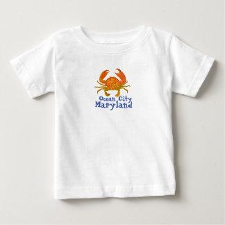 Camiseta Para Bebê Cidade Maryland do oceano