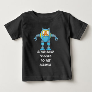 Camiseta Para Bebê Ciência engraçada do robô do cientista da