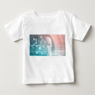 Camiseta Para Bebê Ciência médica do futuro com molécula Backgr