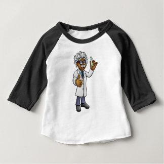 Camiseta Para Bebê Cientista dos desenhos animados que guardara o
