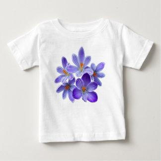 Camiseta Para Bebê Cinco açafrões violetas 05,0, cumprimentos do