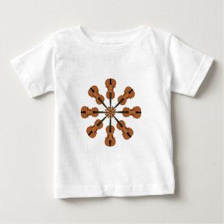 Camiseta Para Bebê Círculo dos violinos