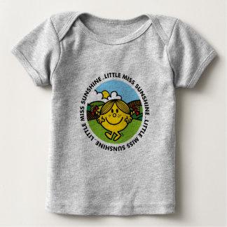 Camiseta Para Bebê Círculo pequeno da luz do sol da senhorita Luz do