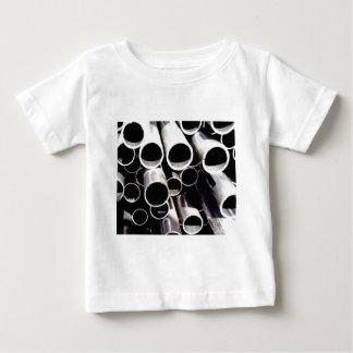 Camiseta Para Bebê círculos empilhados do aço