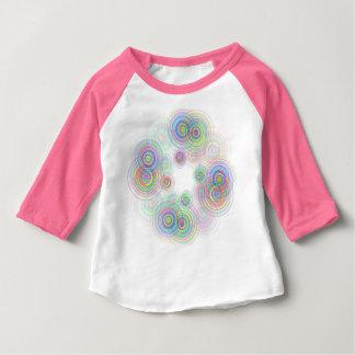 Camiseta Para Bebê Círculos geométricos abstratos