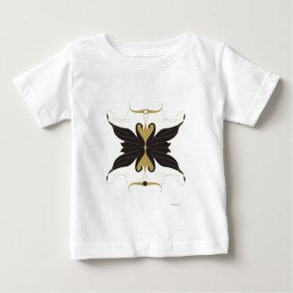 Camiseta Para Bebê Cisnes pretas e pombas