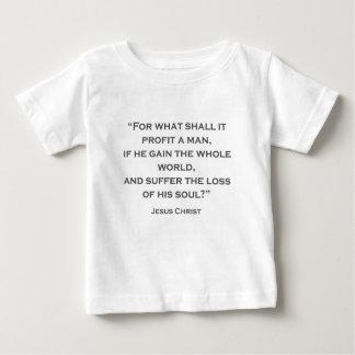 Camiseta Para Bebê CITA JESUS 02 para o que ele lucrará um homem