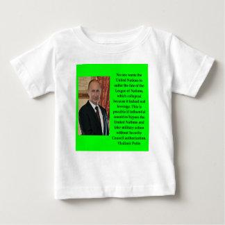 Camiseta Para Bebê citações de putin