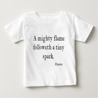 Camiseta Para Bebê Citações minúsculas das citações da faísca da