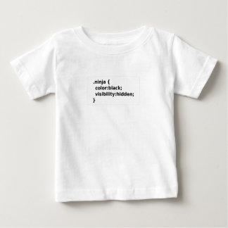 Camiseta Para Bebê Classe do CSS do codificador de Ninja