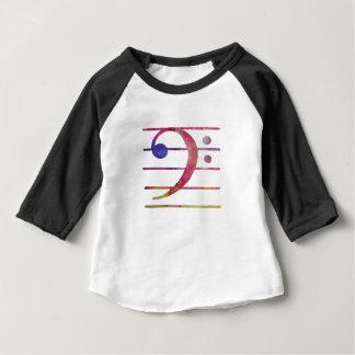 Camiseta Para Bebê Clef baixo