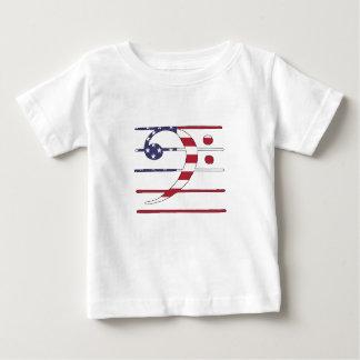 """Camiseta Para Bebê Clef baixo """"bandeira americana """""""