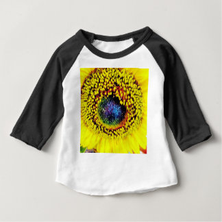 Camiseta Para Bebê Close up amarelo