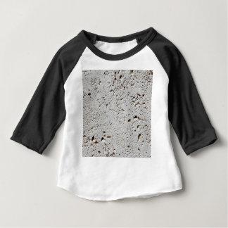 Camiseta Para Bebê Close up fóssil da superfície do azulejo da