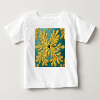Camiseta Para Bebê cobrir das folhas do ouro