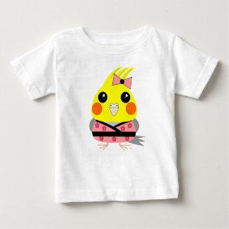 Camiseta Para Bebê Cockatiel do オカメインコオウム no quimono