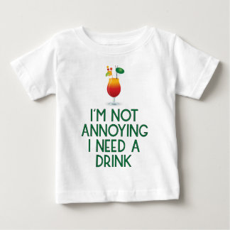 Camiseta Para Bebê Cocktail álcool festa barman Bar festival