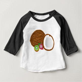 Camiseta Para Bebê Cocos tropicais do quivi