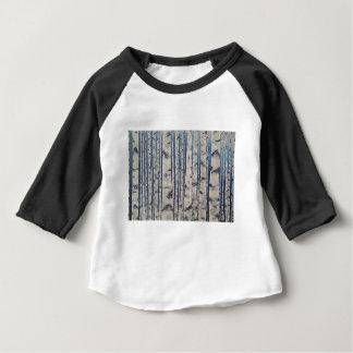 Camiseta Para Bebê Código Morse das árvores de vidoeiro