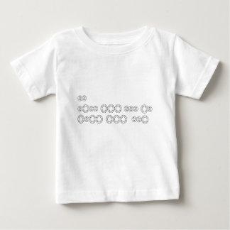 "Camiseta Para Bebê Código Morse ""eu te amo """