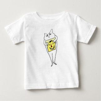Camiseta Para Bebê Coelho branco