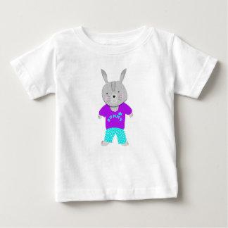 Camiseta Para Bebê Coelho de coelho bonito irrisório dos miúdos