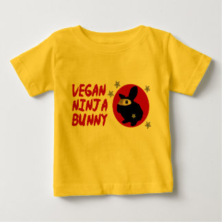 Camiseta Para Bebê Coelho de Ninja do Vegan