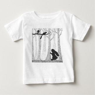 Camiseta Para Bebê Coelho e pássaro