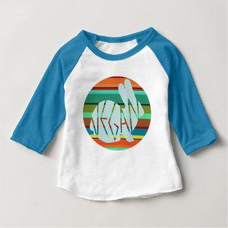 Camiseta Para Bebê Coelho listrado do Vegan