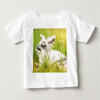 Camiseta Para Bebê Coelho preto e branco