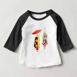 Camiseta Para Bebê Coelhos de coelho japoneses