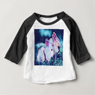 Camiseta Para Bebê Coelhos do anão do nighttime