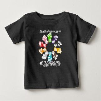 Camiseta Para Bebê Cofre forte comigo t-shirt escuro do jérsei do