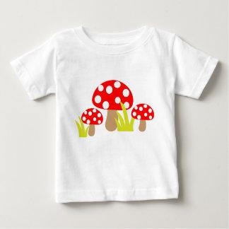 Camiseta Para Bebê Cogumelo bonito das bolinhas - t-shirt do bebê