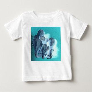 Camiseta Para Bebê Cogumelos de ostra no azul